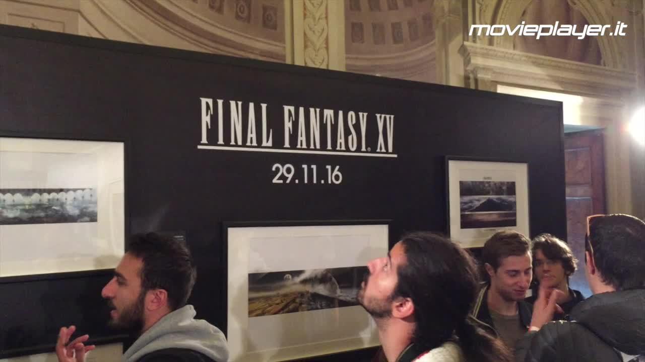 Lucca 2016: una foto dell'interno del padiglione di Final Fantasy XV