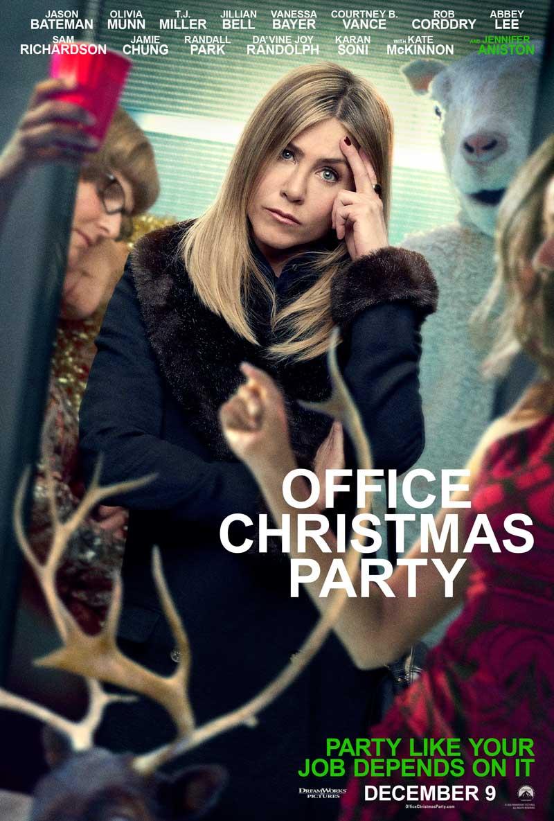 Office Christmas Party: un poster del film con Jennifer Aniston