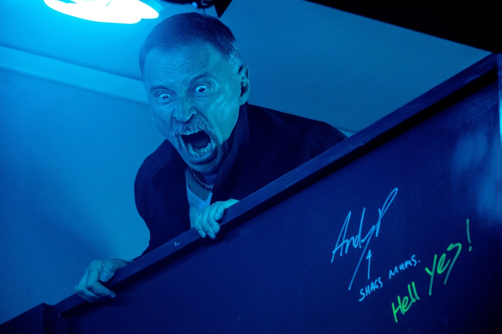T2: Trainspotting 2, Robert Carlyle in una scena del film