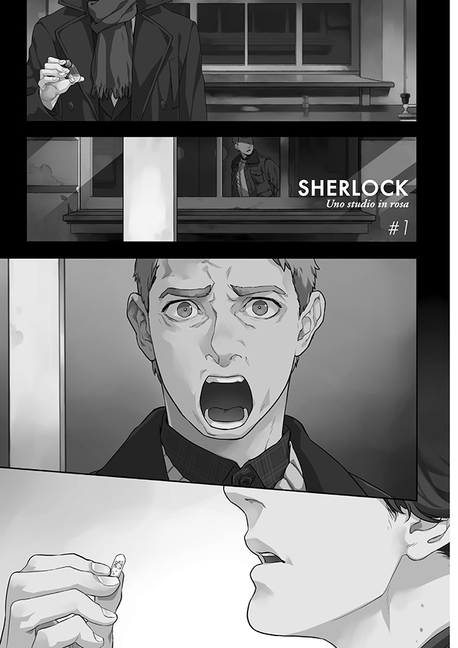 Sherlock: alcune vignette del manga
