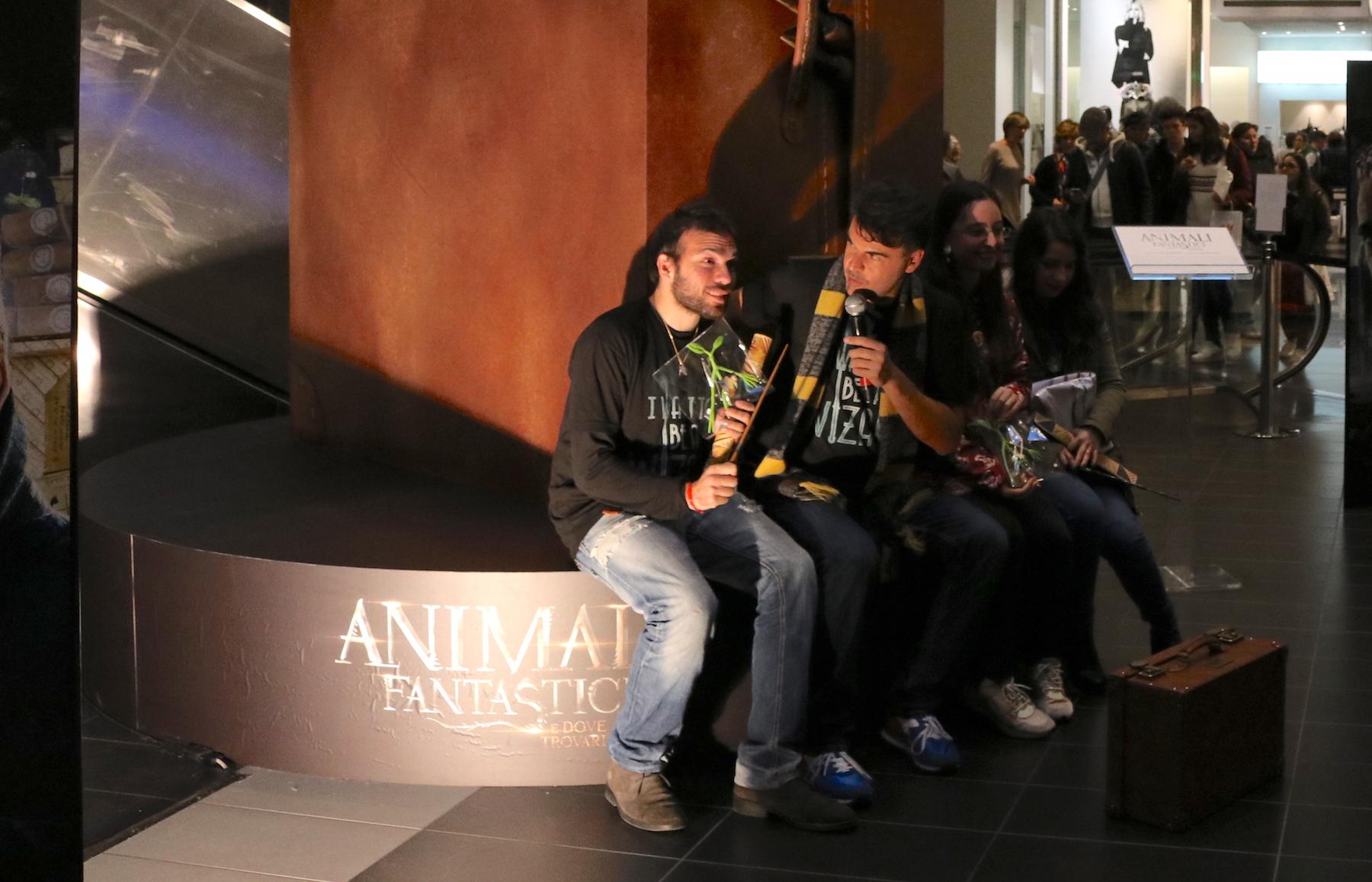 Animali fantastici e dove trovarli: un momento durante l'evento a Porta di Roma
