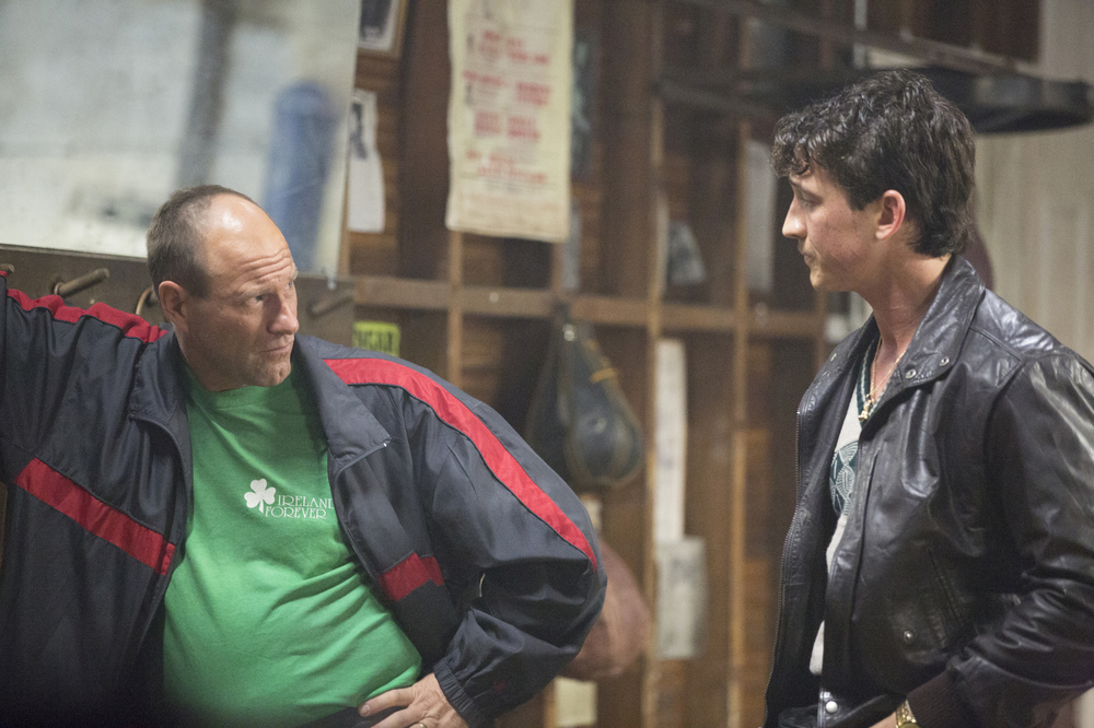 Bleed for This - Vivo per combattere: Miles Teller e Aaron Eckhart in un momento del film