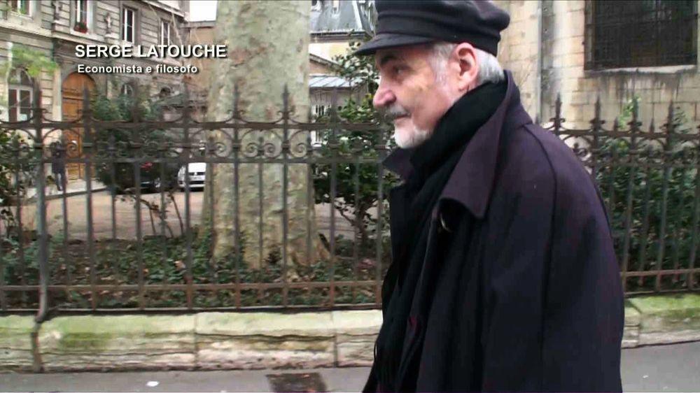 La felicità umana: Serge Latouche in un'immagine del documentario