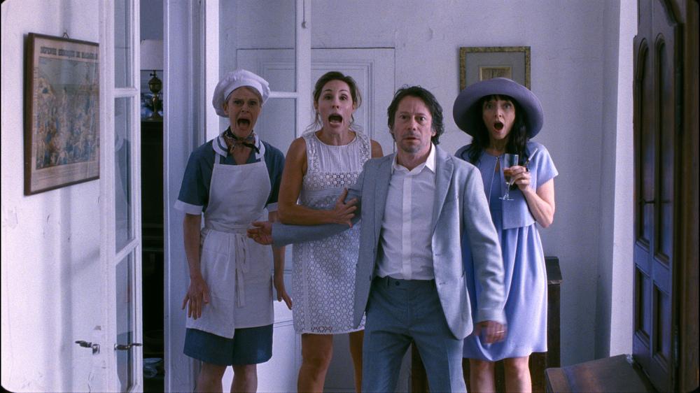 Les fils de Joseph: Mathieu Amalric e Maria de Medeiros in una scena del film