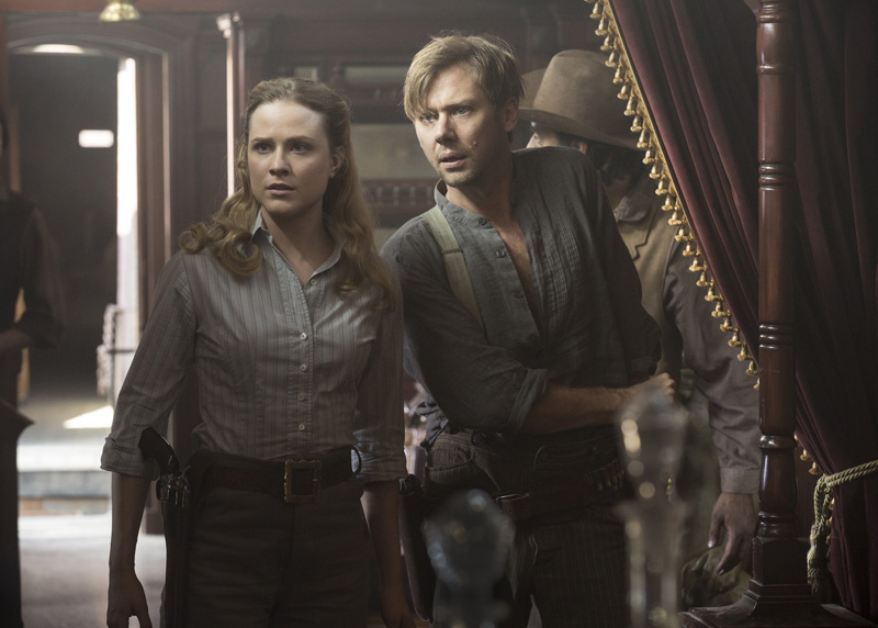 Westworld: Evan Rachel Wood e Jimmi Simpson in Trompe L'Oeil