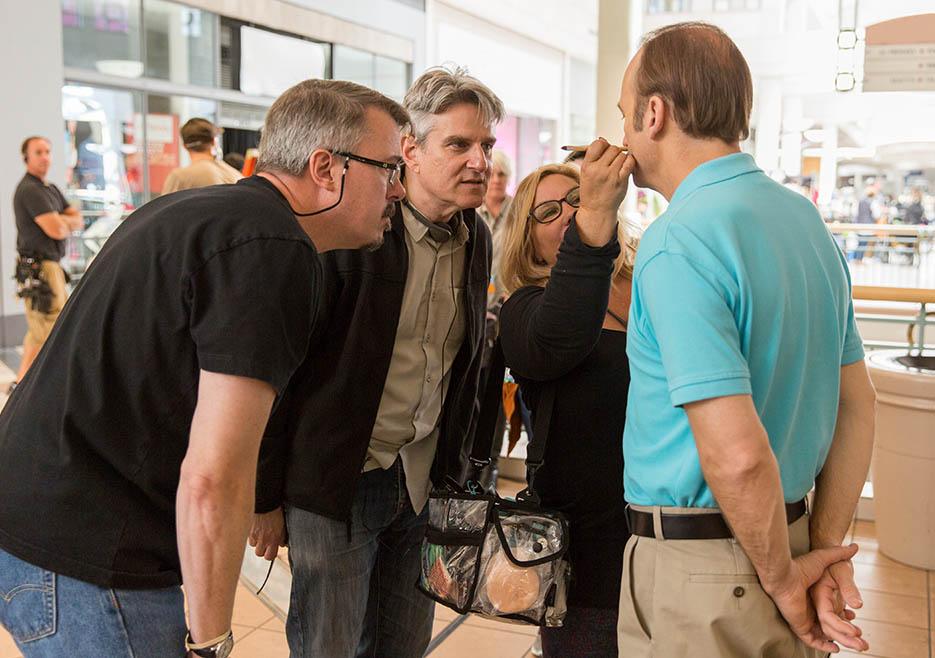 Better Call Saul: Vince Gilligan, Peter Gould e Bob Odenkirk sul set