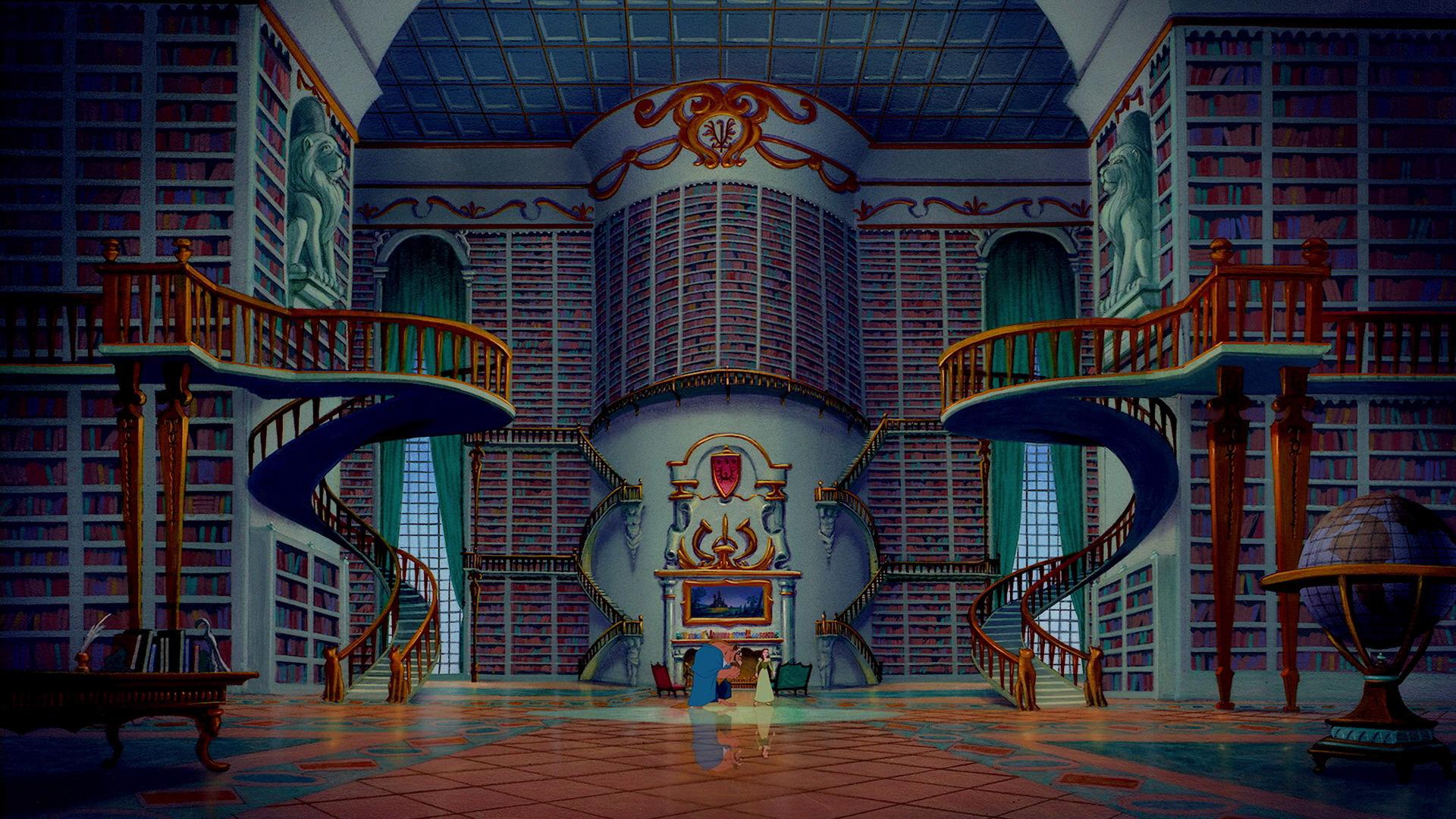 La Bella e la Bestia: la biblioteca del castello