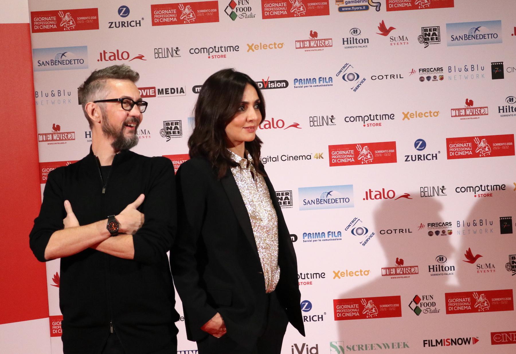 La verità, vi spiego, sull'amore: uno scatto di Ambra Angiolini e Max Croci alle giornate professionali del cinema di Sorrento