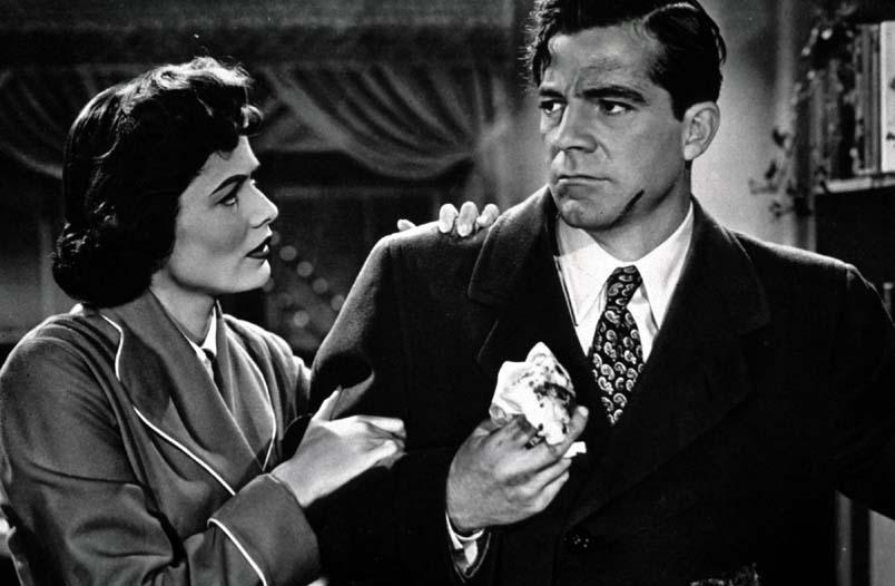 Sui marciapiedi: Gene Tierney e Dana Andrews in una scena del film