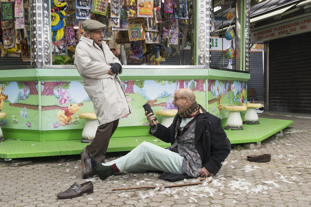 Fuga da Reuma Park: Aldo Baglio e Giovanni Storti in una scena del film