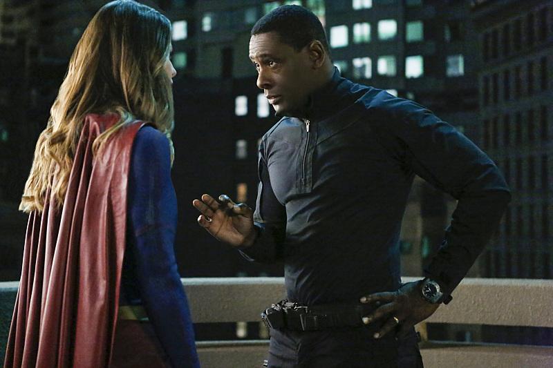Supergirl: Melissa Benoist e David Harewood in Medusa