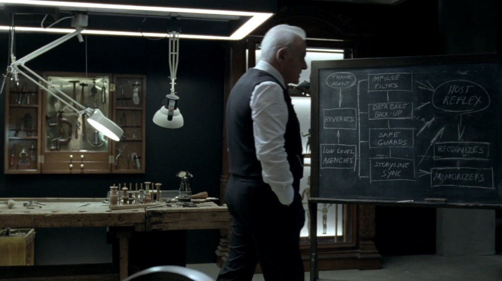 Westworld: l'attore Anthony Hopkins in una foto di The Well-Tempered Clavier