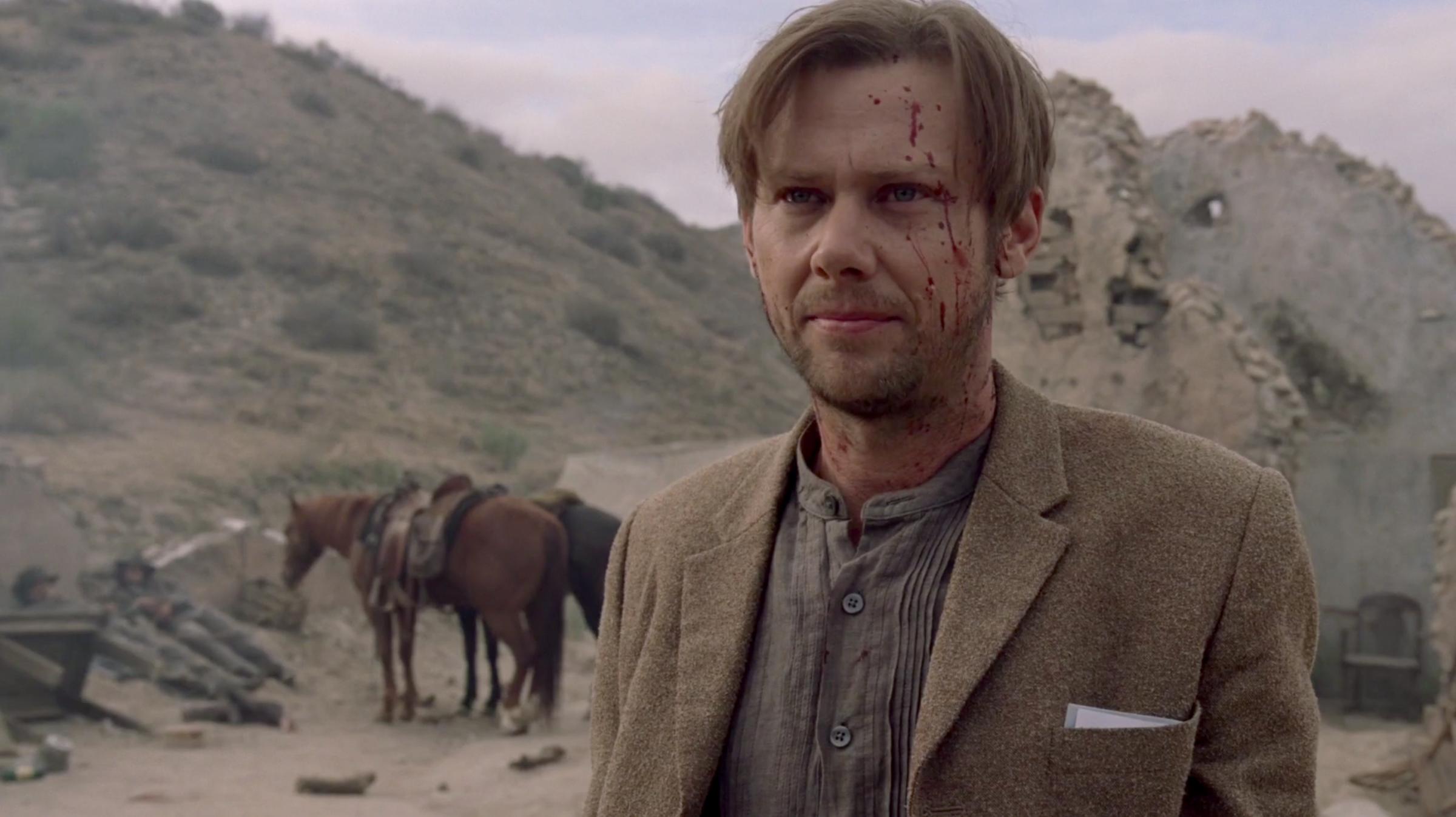 Westworld: un'immagine di Jimmi Simpson in The Well-Tempered Clavier