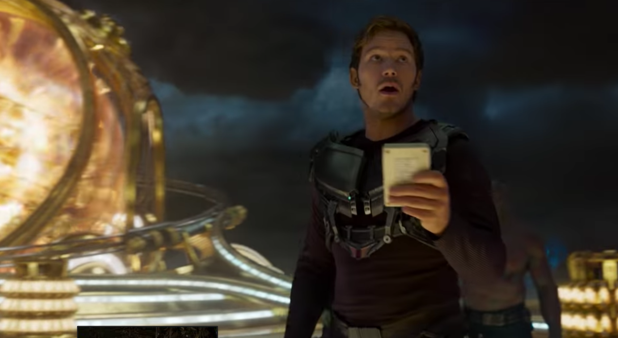 Guardiani della galassia Vol.2: Star Lord in un immagine del trailer