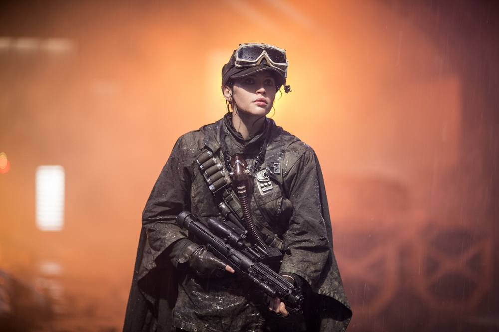 Rogue One: A Star Wars Story, Felicity Jones in un momento del film