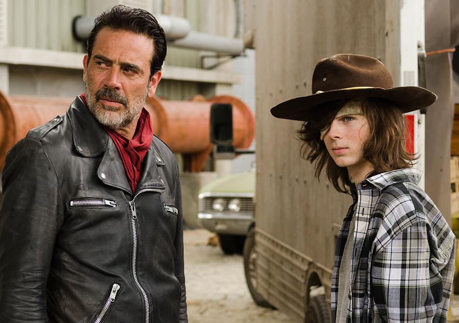 The Walking Dead: Jeffrey Dean Morgan e Chandler Riggs Tu sei il mio sole