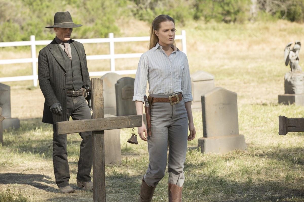 Westworld: Ed Harris ed Evan Rachel Wood in The Bicameral Mind