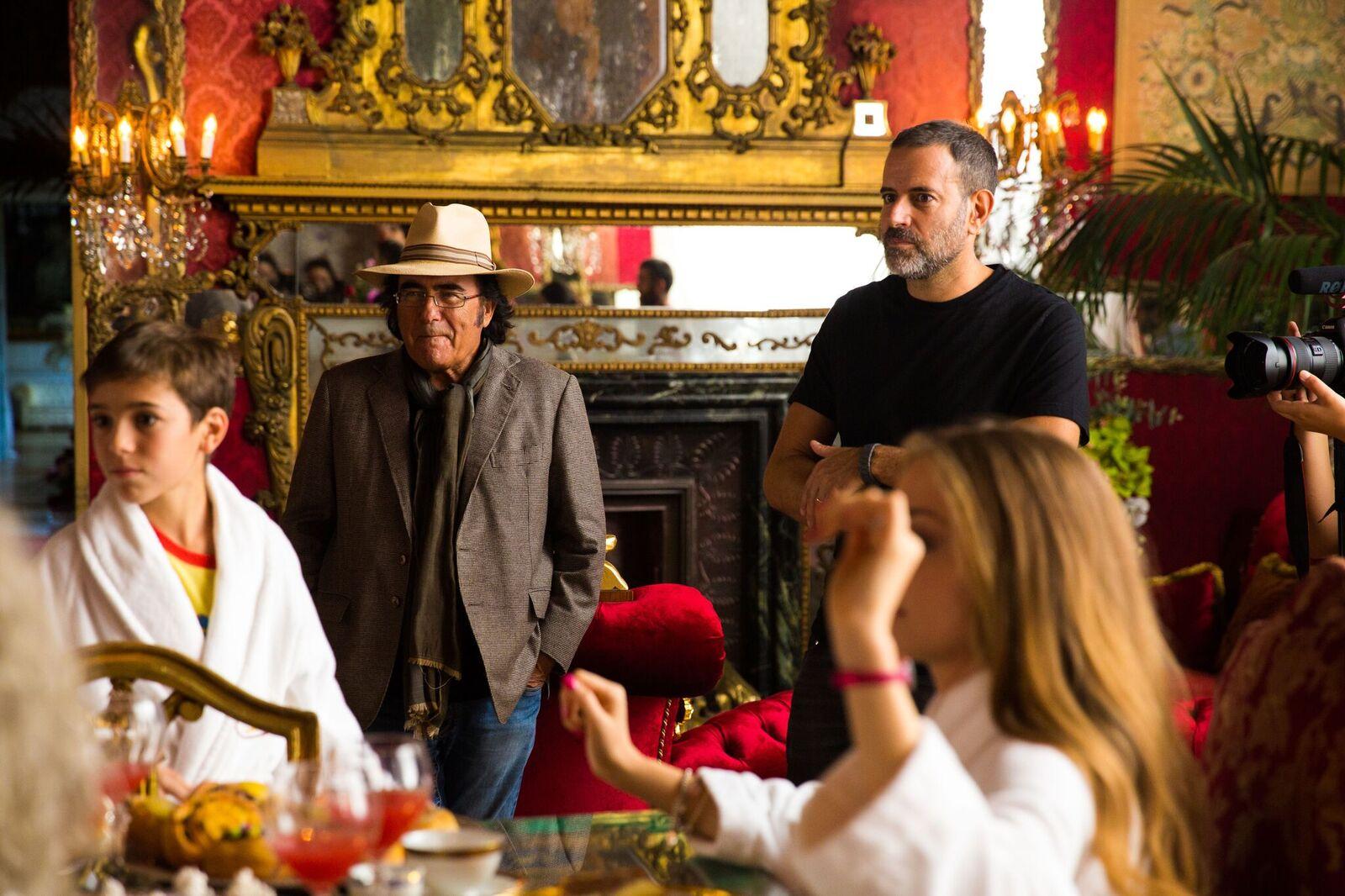 Poveri ma ricchi: Albano e Fausto Brizzi sul set