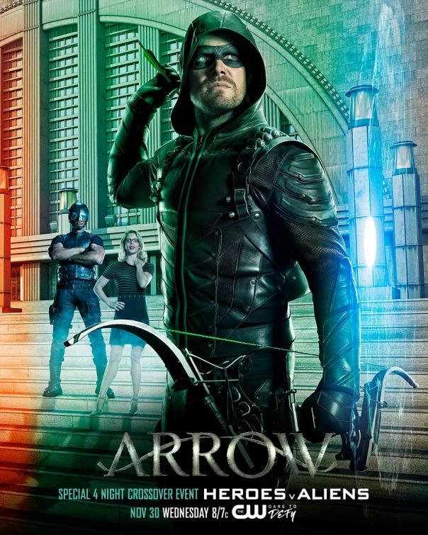 Arrow: il poster del megacrossover con The Flash, Legends of Tomorrow e Supergirl