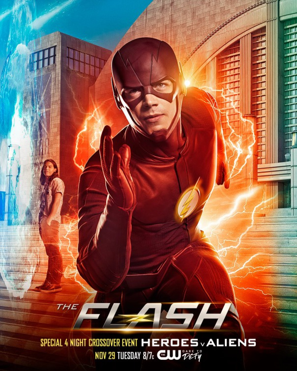 The Flash: il poster del crossover con Arrow, Supergirl e Legends of Tomorrow
