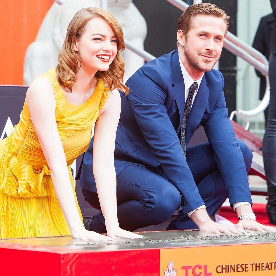 Emma Stone e Ryan Gosling lasciano le loro impronte