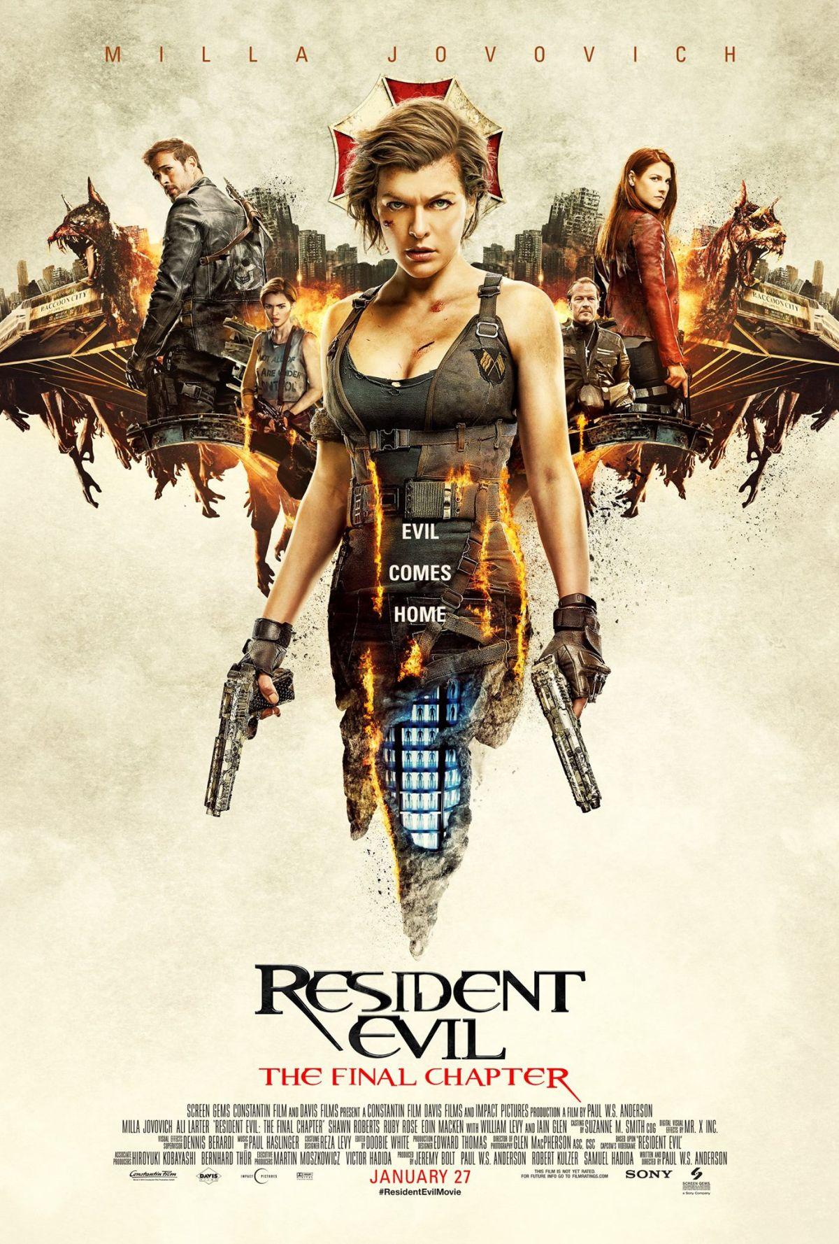 Resident Evil: The Final Chapter - Una nuova locandina del film
