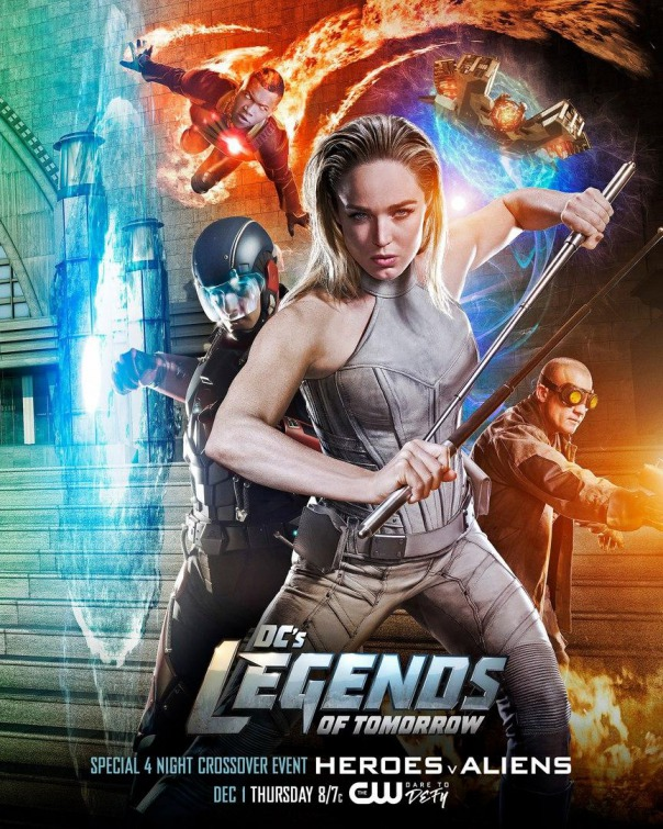 Legends of Tomorrow: il poster del crossover con The Flash, Arrow e Supergirl