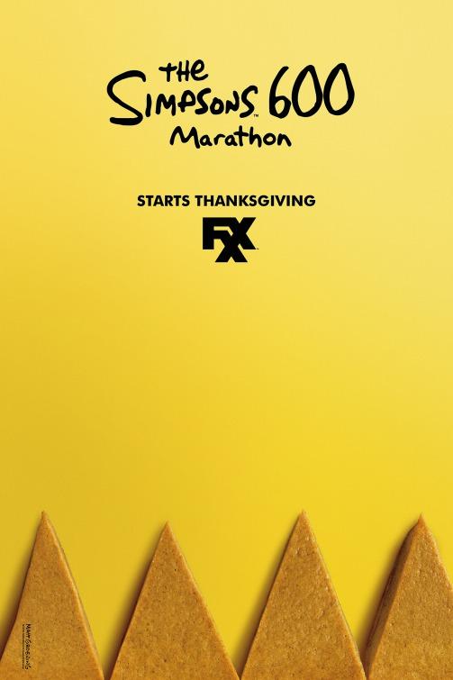 I Simpson: una locandina creata in occasione della maratona televisiva organizzata per il Giorno del Ringraziamento