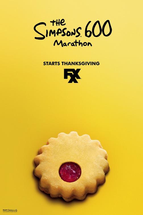 I Simpson: un manifesto creato in occasione della maratona televisiva organizzata per il Giorno del Ringraziamento