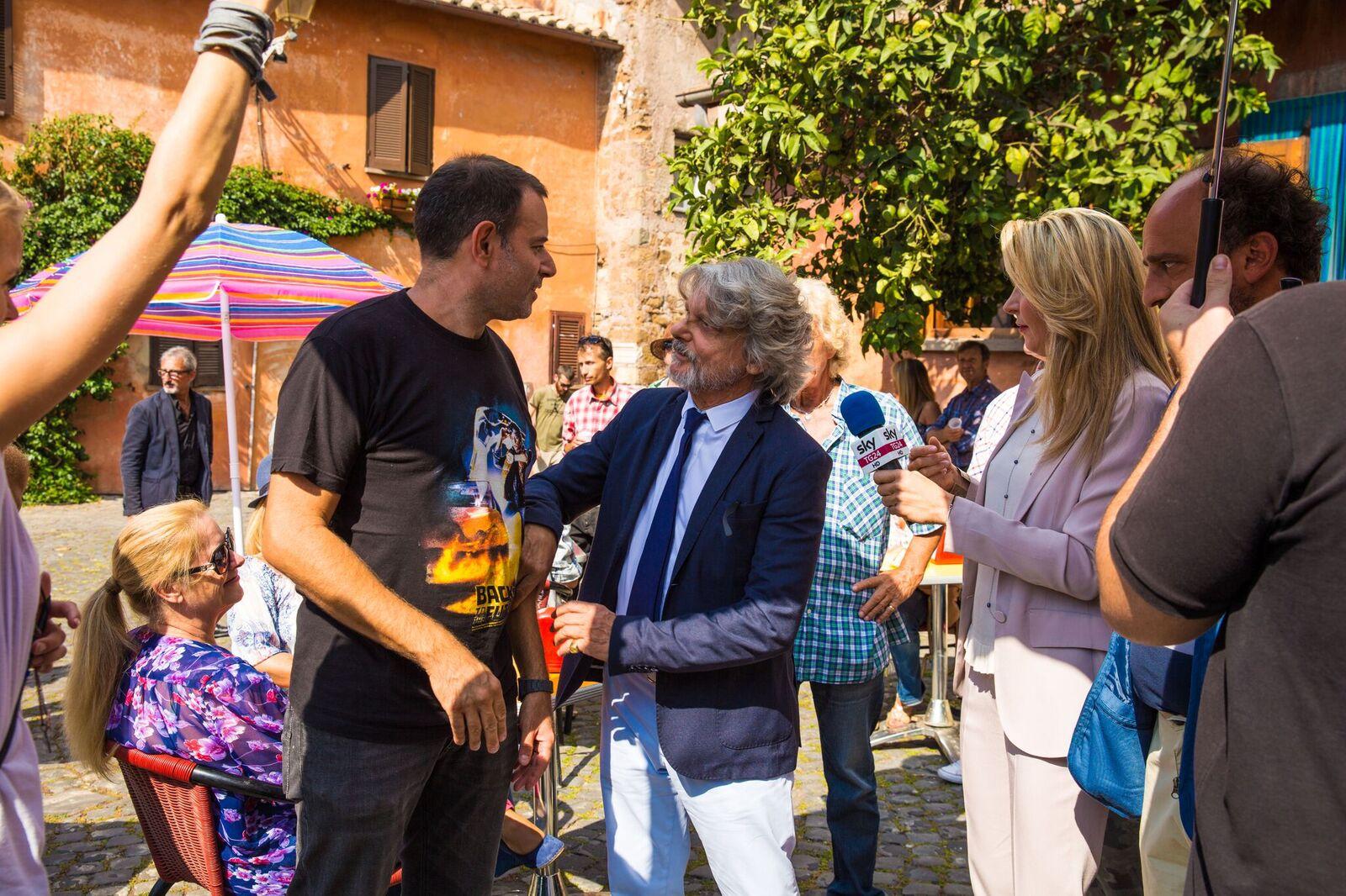 Poveri ma ricchi: Fausto Brizzi sul set