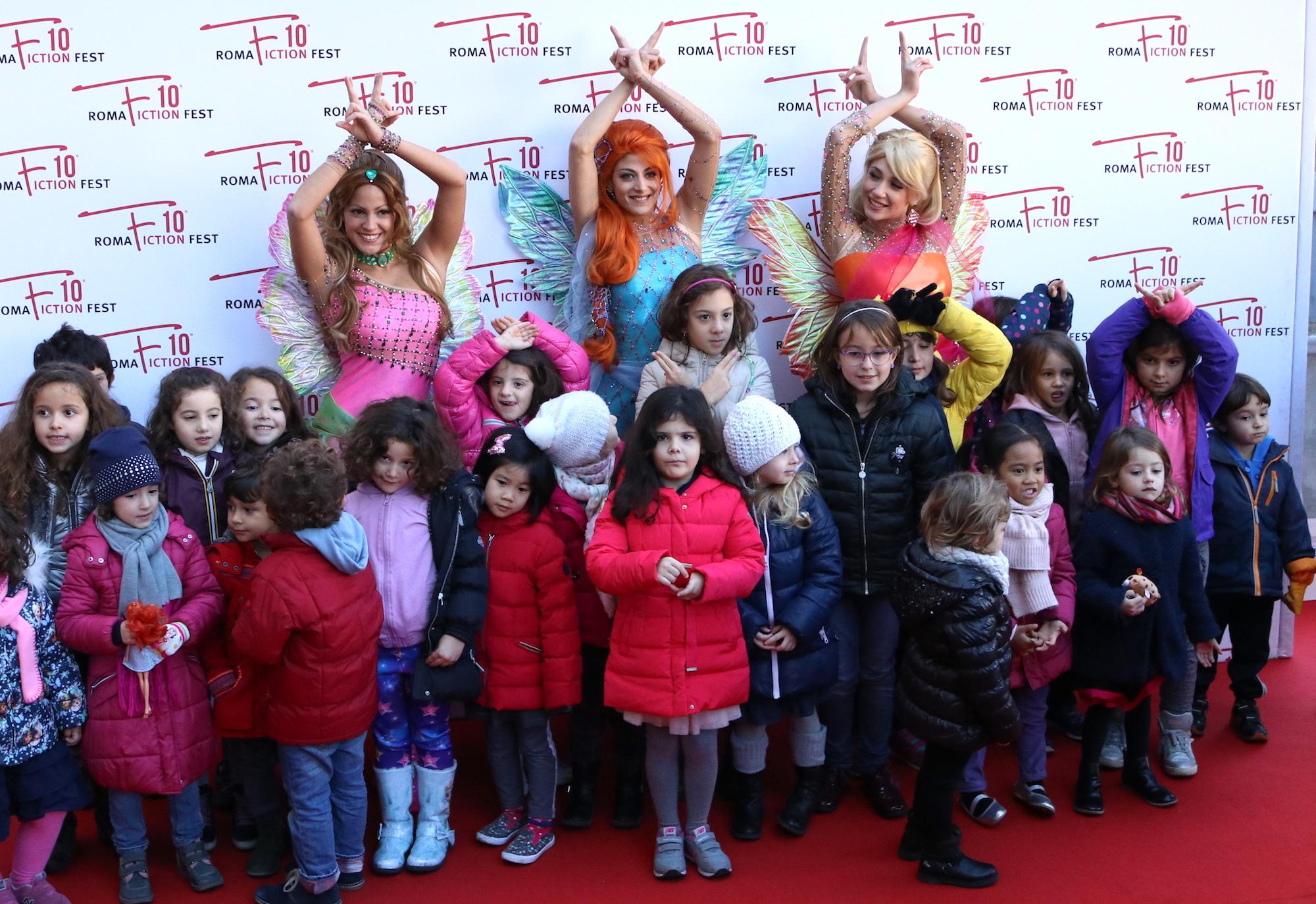 Roma Fiction Fest 2016: le Winx con i bambini sul red carpet