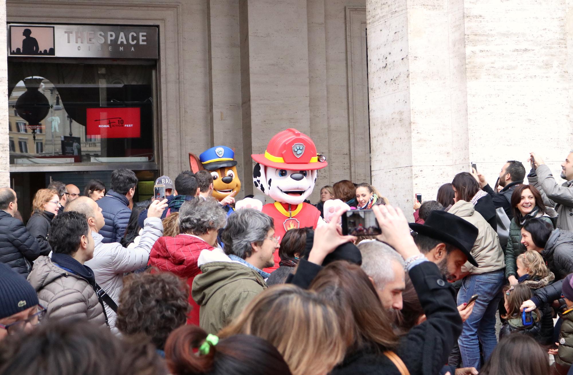 Roma Fiction Fest 2016: i cuccioli di PAW Patrol arrivano sul red carpet