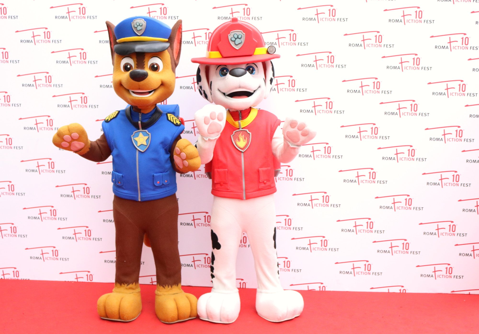 Roma Fiction Fest 2016: i cuccioli di PAW Patrol posano sul red carpet