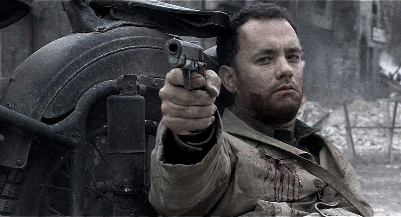 Tom Hanks in Salvate il soldato Ryan