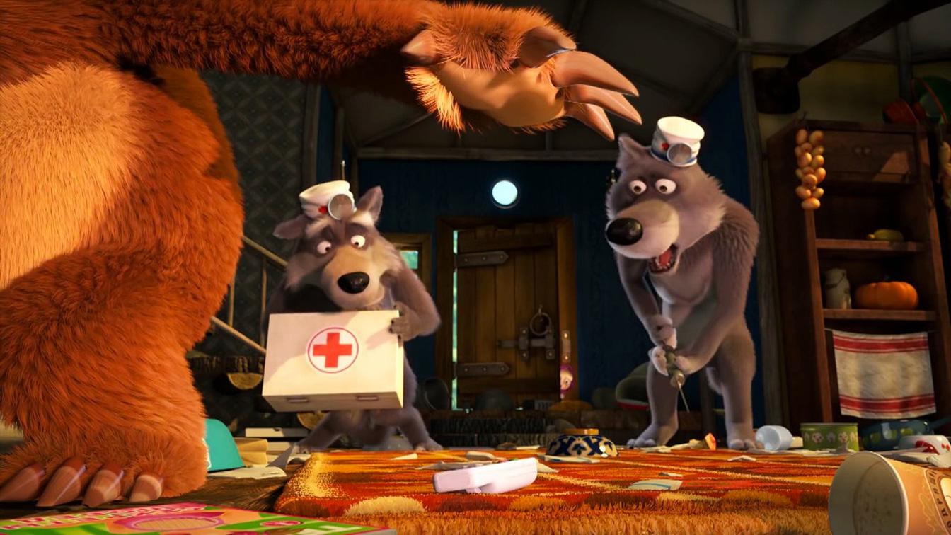 Masha e orso - Nuovi amici: un'immagine tratta dal film animato