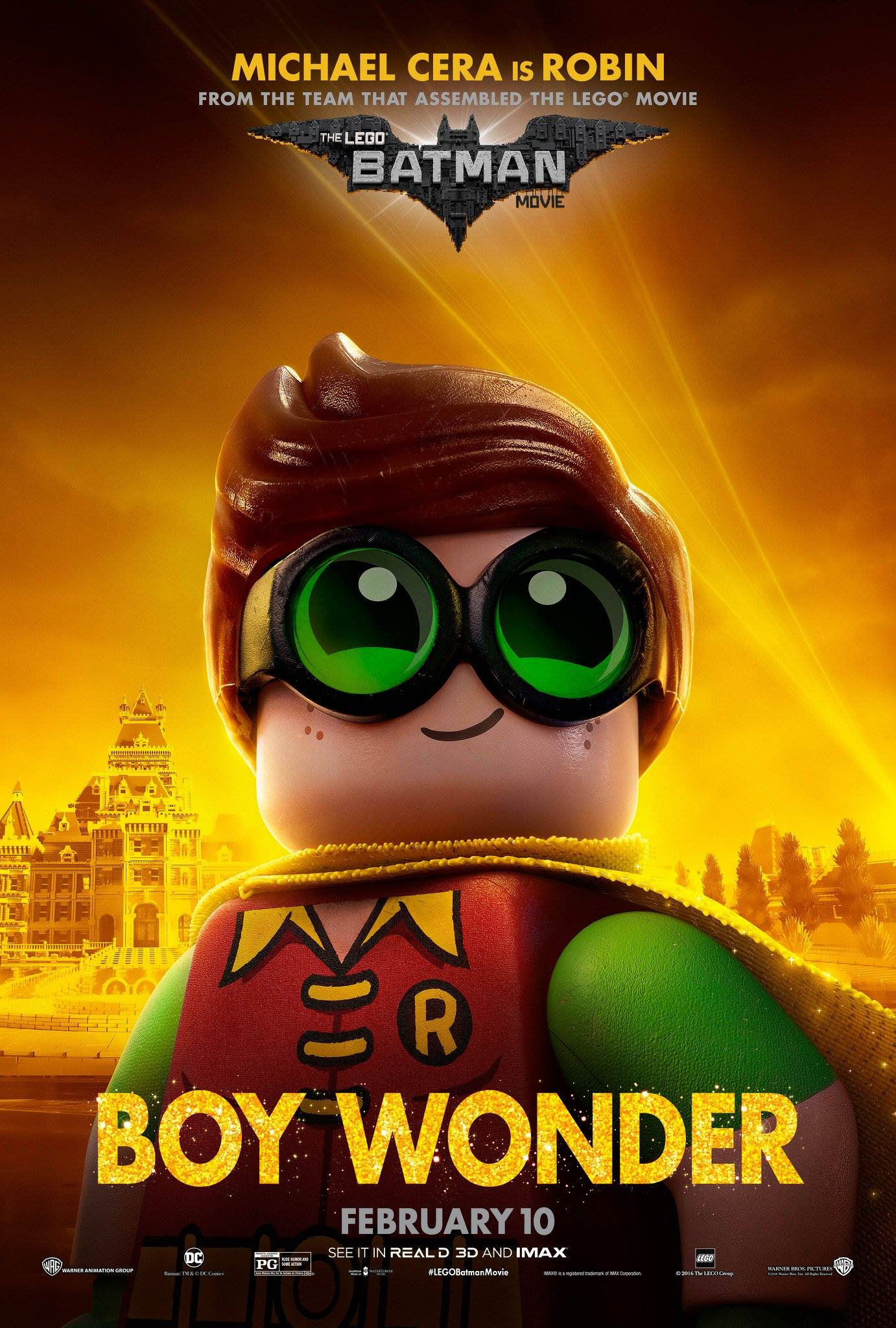 LEGO Batman: Il Film, il character poster di Robin