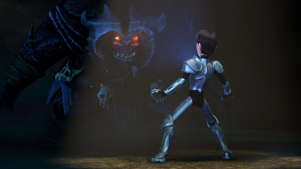 Trollhunters: il protagonista in difficoltà in una foto della serie