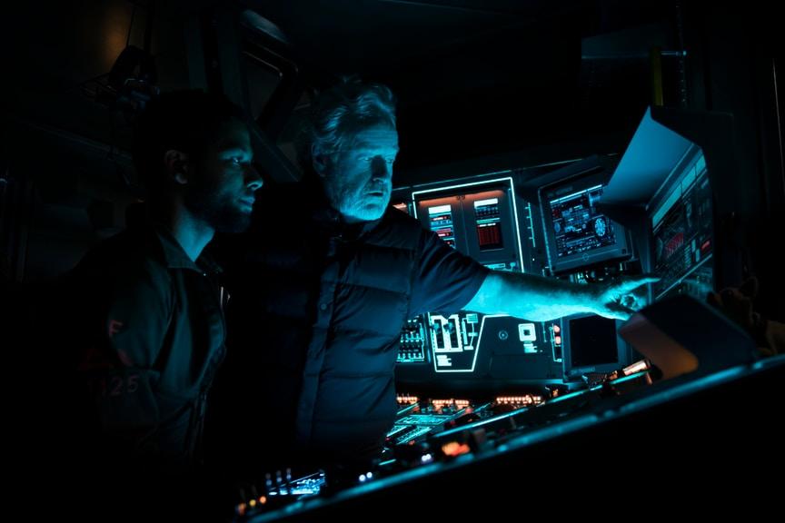 Alien: Covenant - Ridley Scott durante le riprese