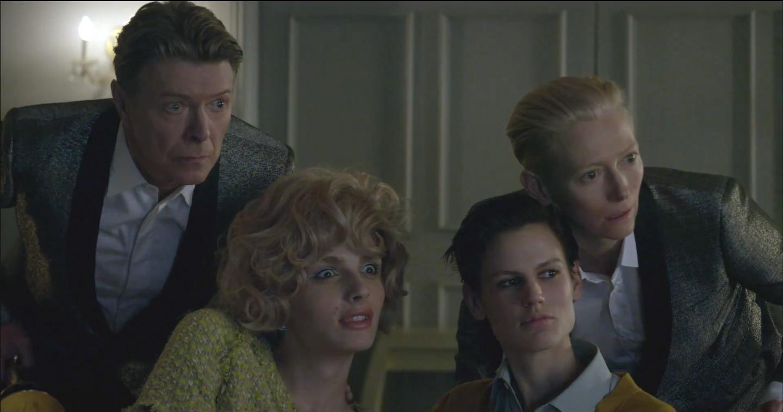 David Bowie in un'immagine con Tilda Swinton