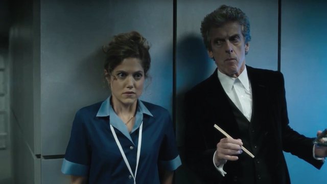 Doctor Who: Charity Wakefield e Peter Capaldi in The Return of Doctor Mysterio
