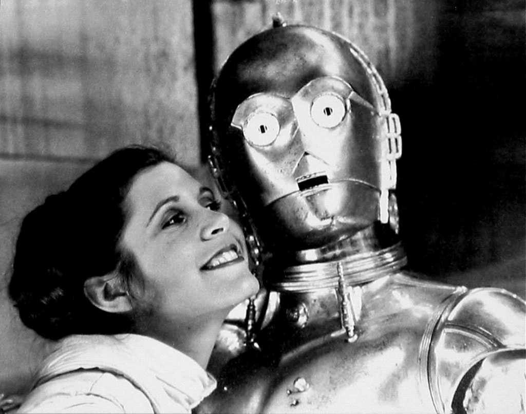 Guerre stellari: Carrie Fisher sul set insieme a C-3PO
