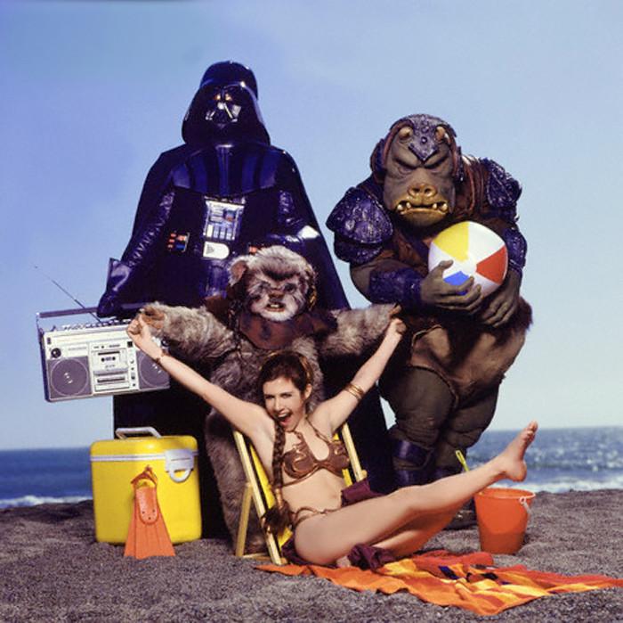 Il ritorno dello Jedi: Carrie Fisher e i suoi amici sul set