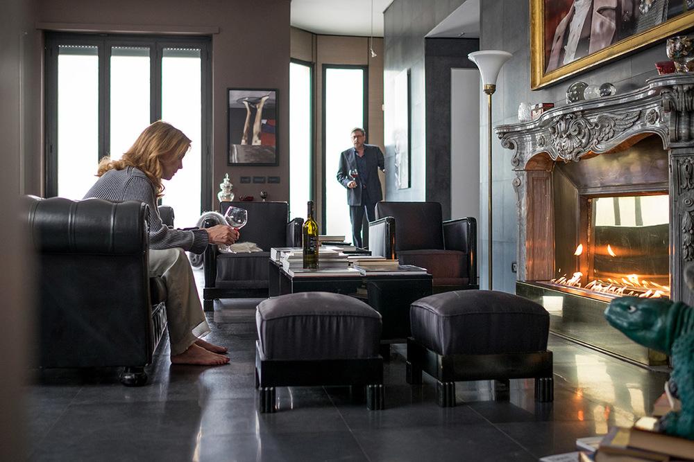 Piccoli crimini coniugali: Sergio Castellitto e Margherita Buy in un momento del film