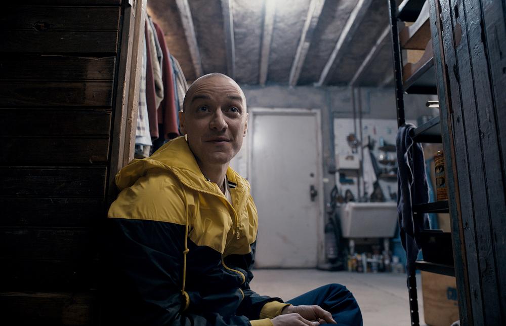 Split: James McAvoy in una scena del film
