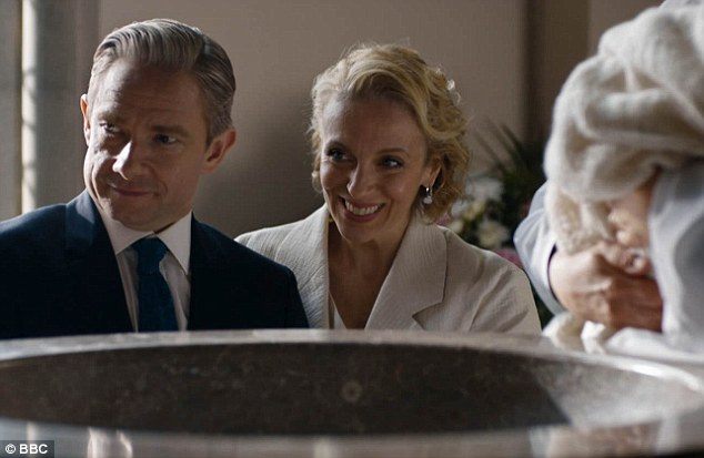 Sherlock: Martin Freeman e Amanda Abbington in The Six Thatchers