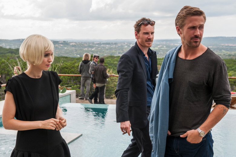 Song to Song: Rooney Mara, Michael Fassbender e Ryan Gosling in una foto del film