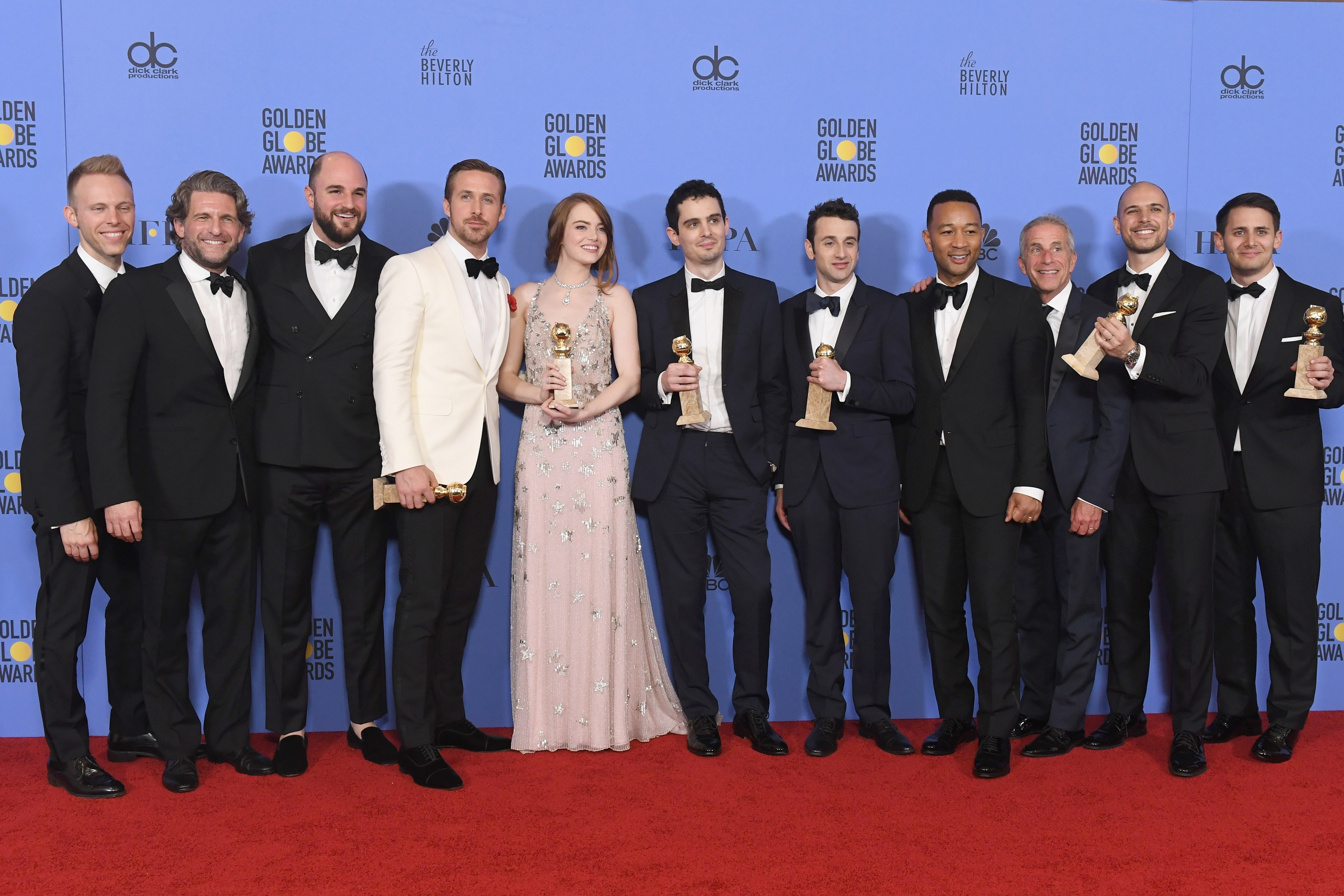 Golden Globes: il cast di La La Land