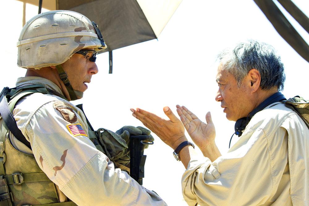 Billy Lynn - Un giorno da eroe: Vin Diesel e Ang Lee sul set del film