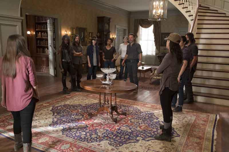 The Walking Dead: una foto dei protagonisti nel nono episodio