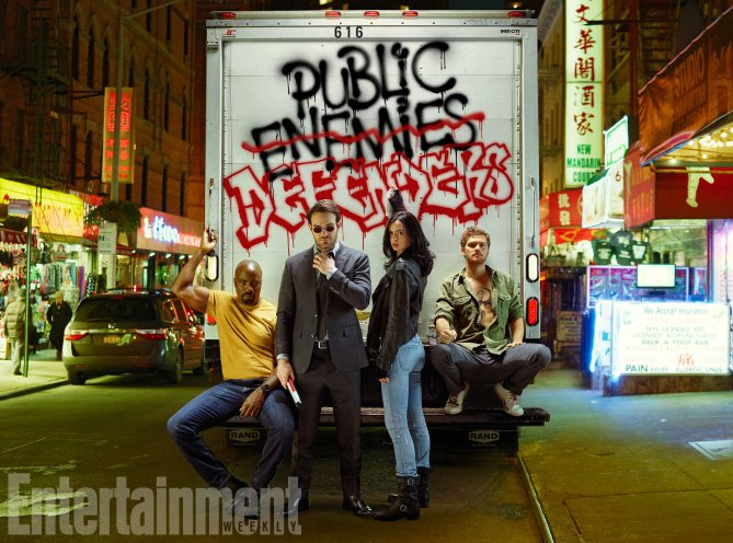 The Defenders: una foto dei protagonisti
